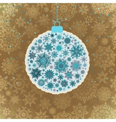 Retro template - Beautiful Christmas ball EPS 10 vector image vector image