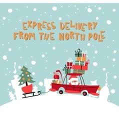 Santas Express vector image