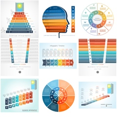 Set Templates Infographics positions 8 vector image vector image