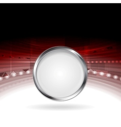 Technology motion design with metal circle frame vector image vector image