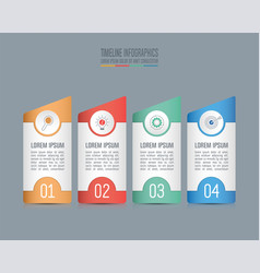 Timeline infographic concept with 4 options vector