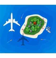 Top view of an island vector image vector image