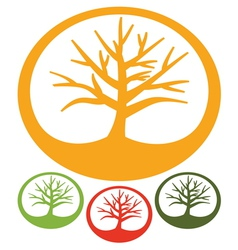 Tree - Simple icon vector image vector image