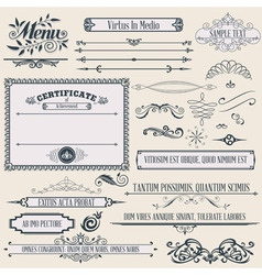 vintage calligraphic design vector image