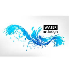 Wave splash vector