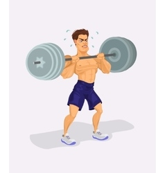 A weightlifter vector