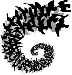 Bird spiral vector image