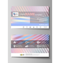 Business card templates easy editable layout vector
