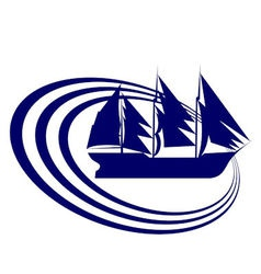 Sailing ship 8 vector image