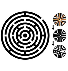 Maze - easy change maze - change color any piece vector