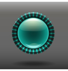 Blue shiny glass buttons vector