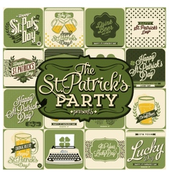 16 st patricks day design vector