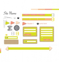 Tailor web theme vector