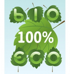 Bio and eco labels vector