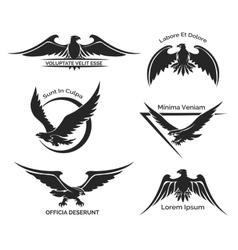 Set of eagle logo vector image