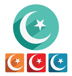 Islam symbol icon flat design vector