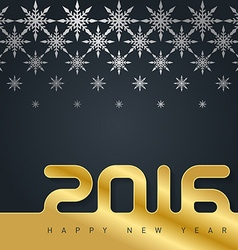 2016 Happy New Year card with snowflakes vector image