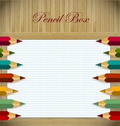 Pencil box vector