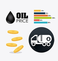 Oil price infographic vector