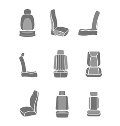 Car Seat icons 06 A vector image