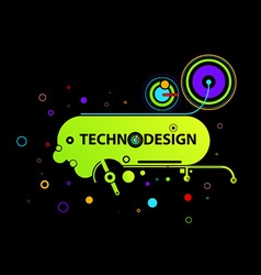Retro techno design vector
