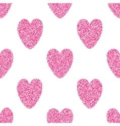 Seamless Background With Pink Hearts vector image