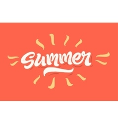 Summer time lettering logo vector