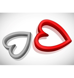 Abstract Concept With Red Hearts vector image