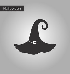 black and white style icon halloween witch hat vector image vector image