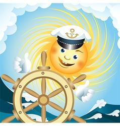 Captain sun vector