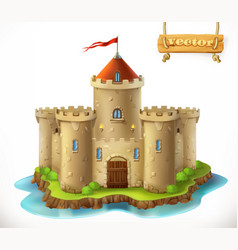 Castle 3d icon vector
