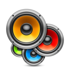 Color speakers vector image vector image