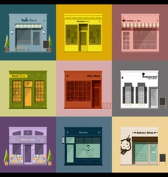 Different shops and stores icons set vector image