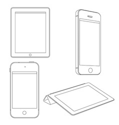 Digital devices vector image vector image