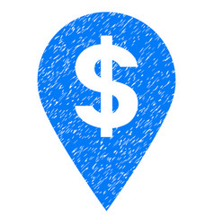 Dollar map marker grunge icon vector