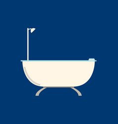 Flat bathroom flat icon on blue background vector