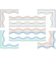 guilloche border and corners vector image vector image