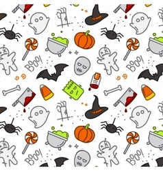 Halloween flat pattern color vector image