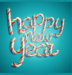 happy new year 3d number sign in christmas vector image vector image