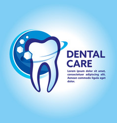 Health dent logo design cosmetic dental vector