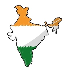 india map silhouette vector image