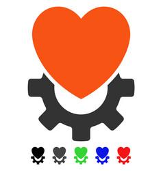 Mechanical heart flat icon vector