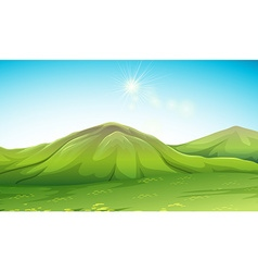 Nature scene with green mountain vector