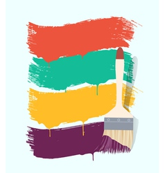 paint brush background retro vector image vector image