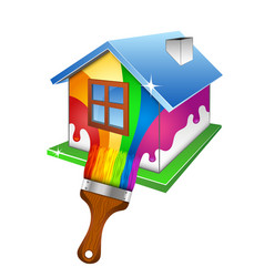 painting a house design for business vector image vector image