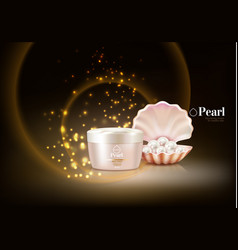 pearl shell cosmetic composition vector image vector image
