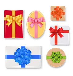 realistic gift box set vector image