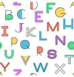 Seamless pattern alphabet background vector