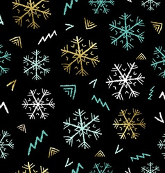 Snowflake doodle background for christmas season vector