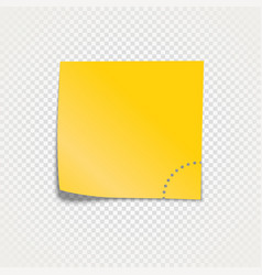 Sticky paper template isolated on transparent vector